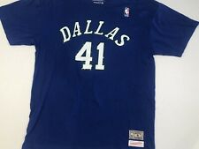 8340f2a23 Dirk Nowitzki Mitchell And Ness T-shirt! Dallas Mavericks Throwback XL
