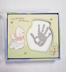 Winnie the Pooh Honey Pot Photo Picture Frame Ink Pad For Baby Hand or Footprint