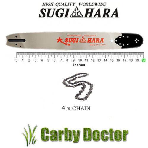 """SUGIHARA 20/"""" JAPAN BAR 4 x TITAN CHAIN FOR HUSQVARNA 66 272 268 365 372 CHAINSAW"""