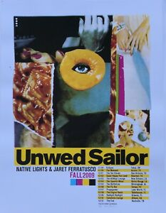 Unwed-Sailor-2009-Tour-Poster-Denny-Schmickle-18x24-Hand-Screened-TULSA