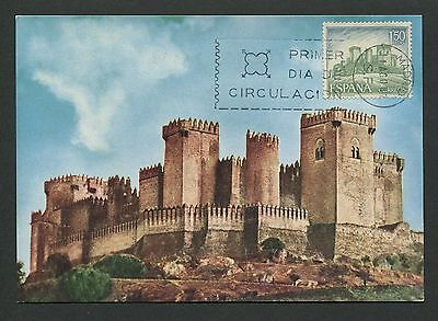Diszipliniert Spain Mk 1967 Castillo Burg Castle Chateau Maximumkarte Maximum Card Mc Cm D3777 Exquisite Traditionelle Stickkunst Architektur