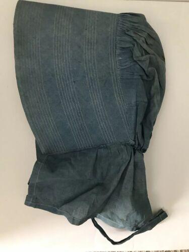 Antique Blue Bonnet 1800s Prairie Women's Victori… - image 1
