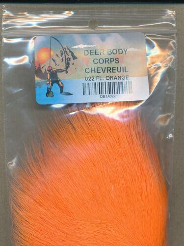 white tanned - bag 8 gr Deer body fl orange     022