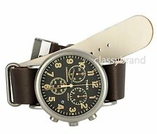 Timex TW2P85400 Weekender Chronograph Black Dial Brown Leather Men's Watch -NEW