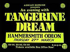 "Tangerine Dream Hammersmith 16"" x 12"" Photo Repro Concert Poster"