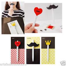 3-piece Cute Moustache Crown Heart Ball Pen Ballpen Medium Point 0.5 Mm, 3 Pens