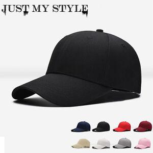 4455f8e9e23 Mens Womens New Black Baseball Cap Snapback Hat Hip-Hop Adjustable ...