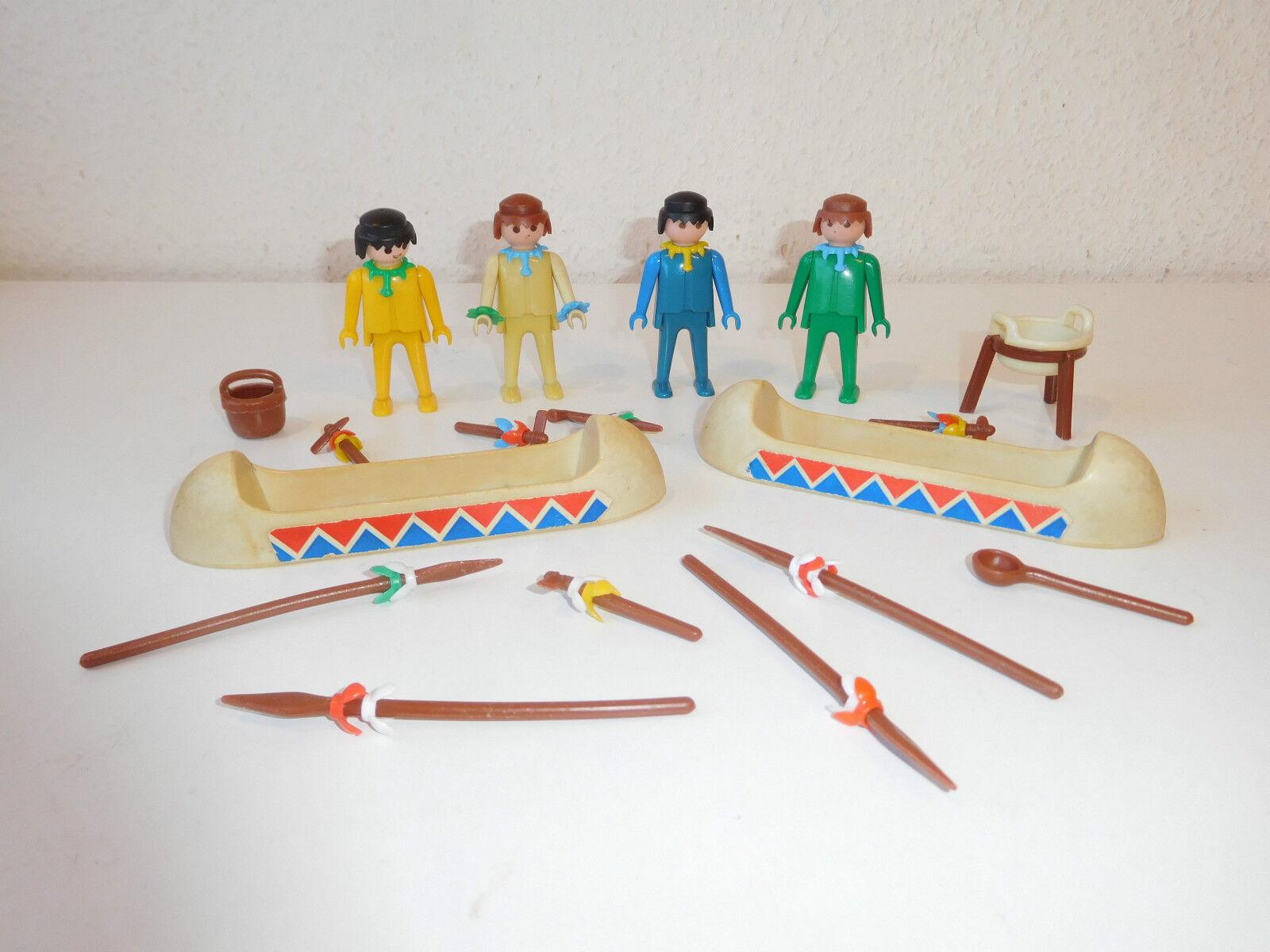 PLAYMOBIL 3259 3120 - Vintage First Klicky Pastel Indians with B b-Prägung (6)
