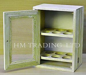 12-Chicken-eggs-Wooden-Cabinet-Holder-Cupboard-Storage-Stand-Rack-Kitchen