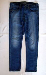 99 Mens 34 32 Eagle 1 décoloration Cot Stretch Skinny American Détresse Medblue Taille IqYCCg