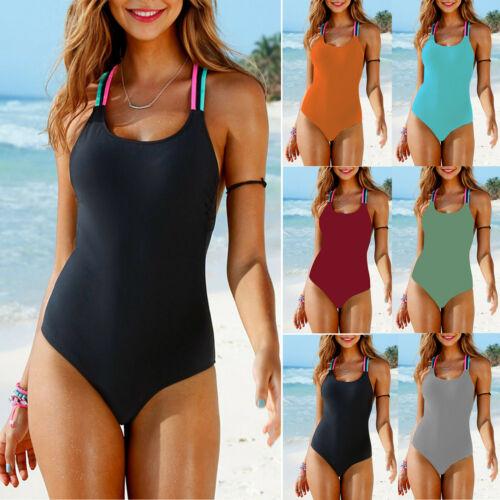 Women Push Up Bikini One Piece Monokini Swimsuit Beachwear Swimwear Bathing Suit