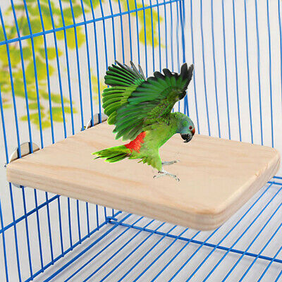 13x28cm Wooden Parrot Bird Cage Perches Stand Platform Pet Budgie Hanging Toy/_WK
