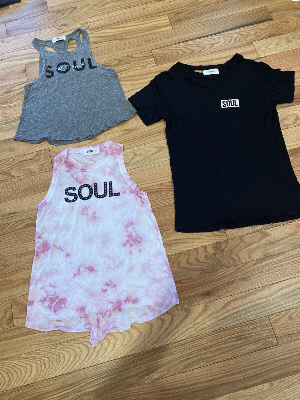 Soul Cycle X Small Soul Workout Tank T Shirt Sleeveless Lot Of 3 All NWOT