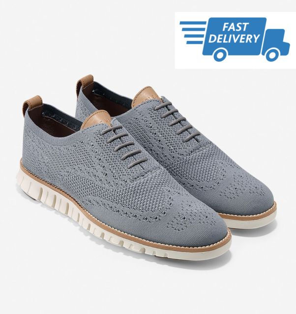 soft and light durable in use exquisite design 🔥COLE HAAN ZEROGRAND Wingtip Oxford Stitchlite Ironstone Men's Shoes  C24944 NEW