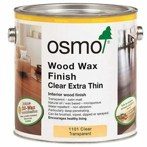Osmo Wood Wax Finish Clear Extra Thin 1101 Clear Transparent