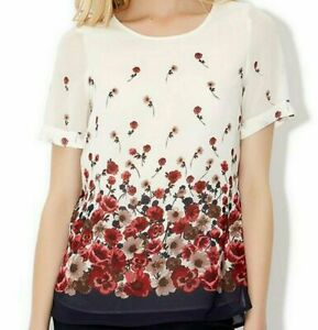 EX-MONSOON-LUCIA-BLUSH-CREAM-RED-FLORAL-LINED-BLOUSE-TOP-8-10-12-14-16-18-20-22