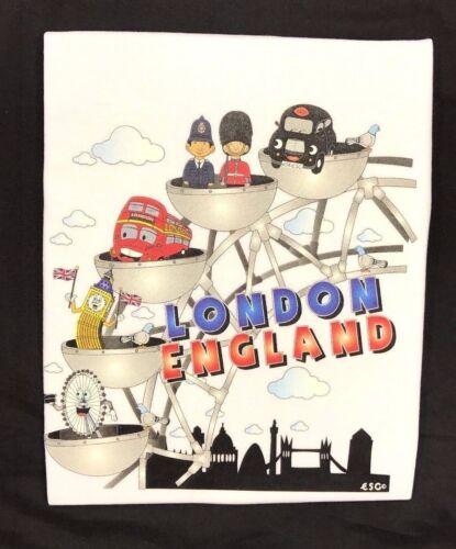 Bambini Bambini Londra Inghilterra le scene del 100/% COTONE T-shirt 1-14 anni
