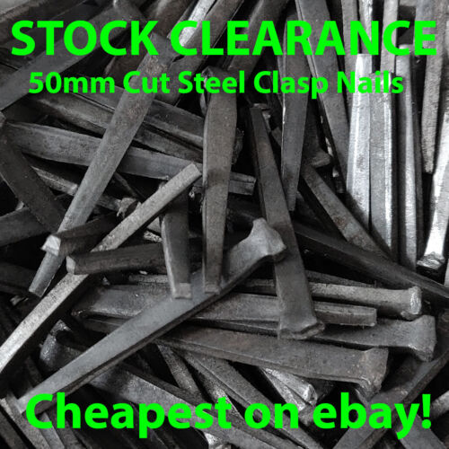 "Cut Steel Clasp Nails 2/"" 50mm frames Floor boards strong wood nails"