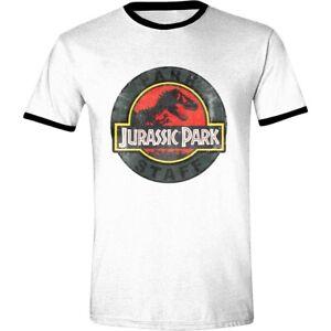 Jurassic Park T-Shirt Logo Maglia Maglietta Ufficiale Originale
