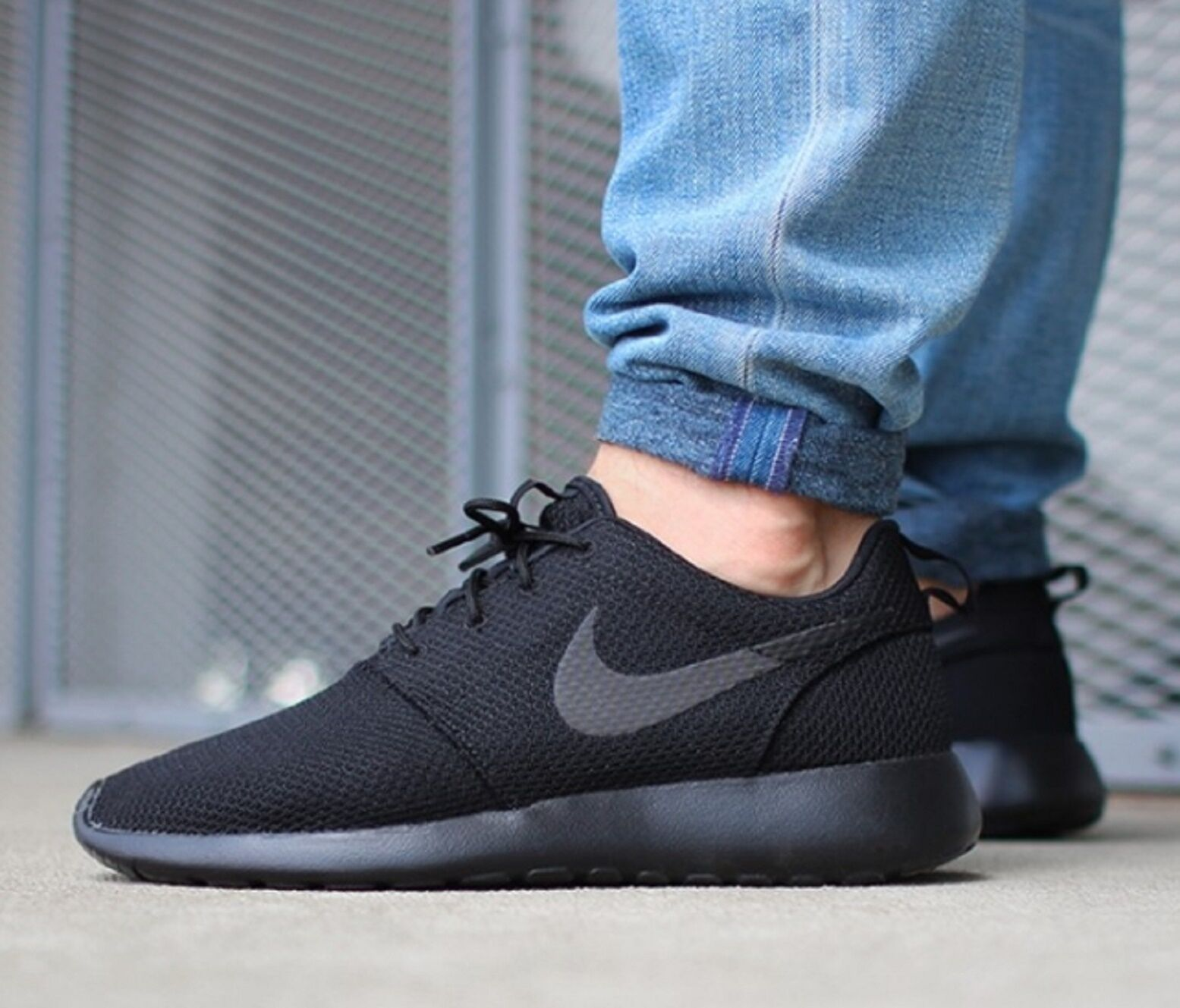 Nike ROSHE ONE MEN'S  SHOES SNEAKERS BLACK Black