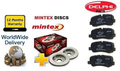 VW TOURAN 1.2i 1.4 1.6TDi  2.0 TDI 2010/> REAR BRAKE DISCS SET AND DISC PADS KIT