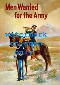 WWI Army Horse Cavalry Horse Poster 16x24 Join the Army Pro Patria