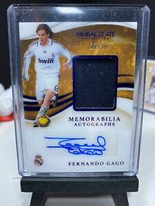 2020 Immaculate Soccer FERNANDO GAGO Match Worn Patch Autograph 23/25 AUTO