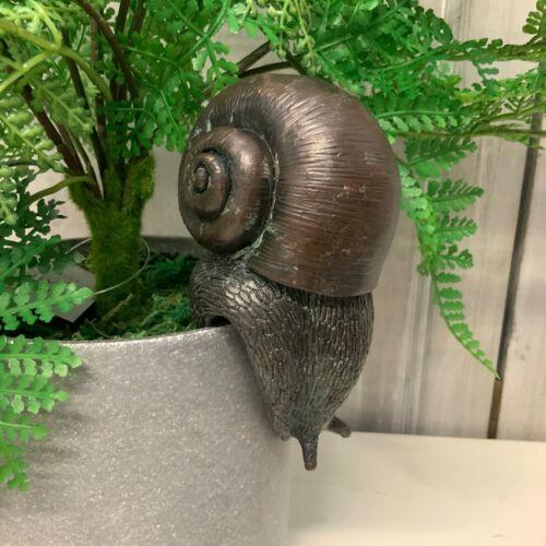 Effetto bronzo Lumaca Vaso Decorazione Hanger Vintage Chic veranda insetti