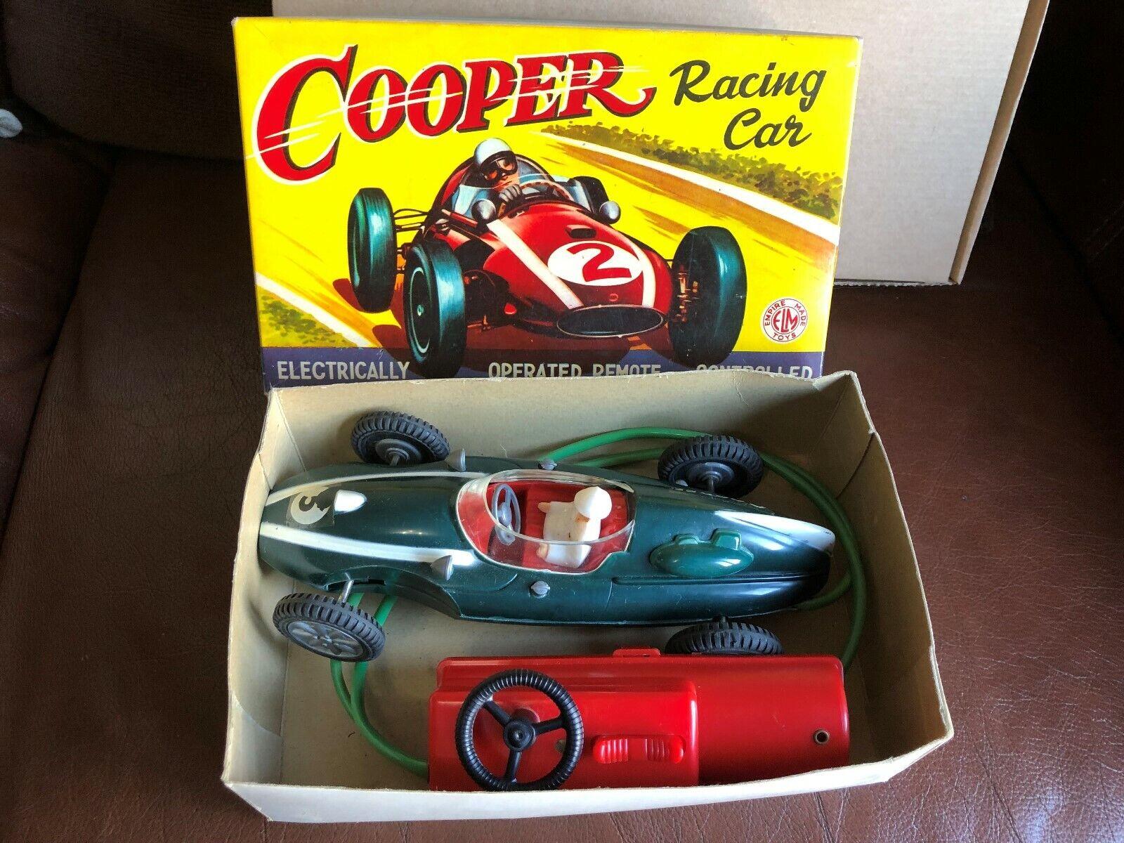 Empire made vintage Télécommande COOPER RACING CAR dans boîte d'origine, années 1960