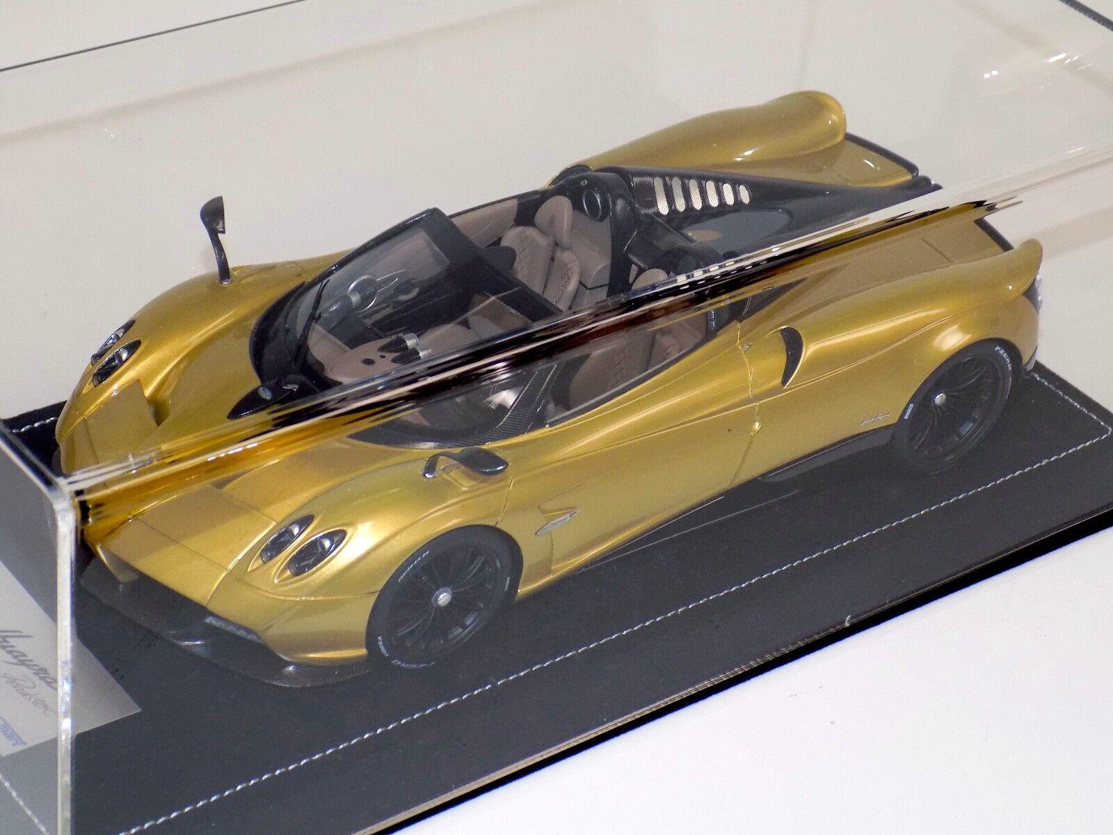1 18 18 18 Looksmart MR Pagani Huayra Roadster in gold Alcantara base a0e783