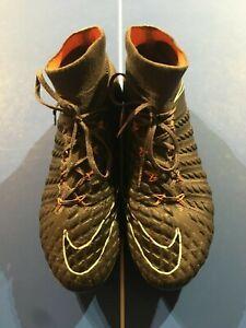 Nike-Hypervenom-Phantom-3-Elite-DF-FG-Dark-Grey-amp-Orange-Size-US-Men-8-0