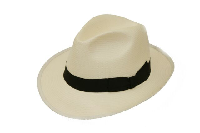 New Adult Soft Straw Crushable Foldable Summer Panama Trilby Hat With Wide Brim
