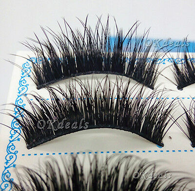 Fashion 5 Pairs Natural Eye Lashes Makeup Handmade Thick Fake False Eyelashes