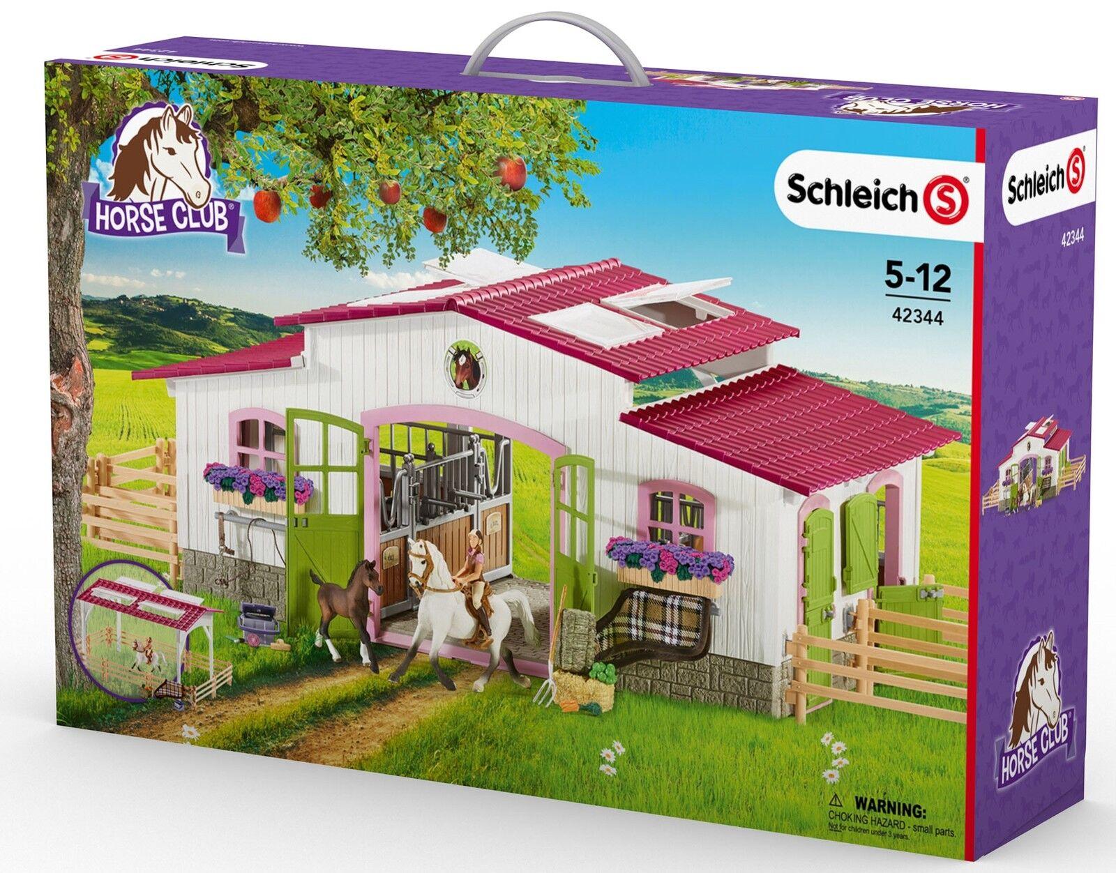 Schleich 42344 Reiterhof con charra y caballos-cuadra pferdehof nuevo