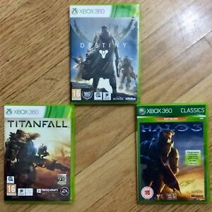 Details about Exc• 'Destiny' + 'Titanfall' + 'Halo 3' •Xbox 360, 3 games  complete with Inserts