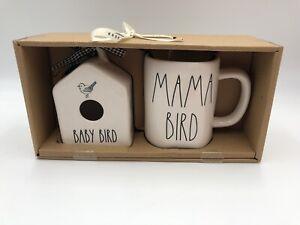 RAE-DUNN-BABY-BIRD-Round-Mini-Birdhouse-MAMA-BIRD-Mug-Gift-Set-New-IN-Box