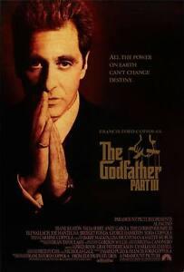 The Godfather Part III Original Filmposter Final Stil - Pacino Keaton