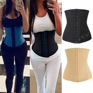 a362c35fc0be7 Image is loading Underbust-Corset-Waist-Trainer-Cincher-Latex-Sport-Body-