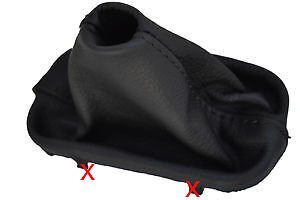 FITS MERCEDES R170 SLK 1996-2004 GEAR GAITER LEATHER BLACK