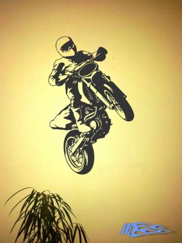Wandtattoo Motorrad Motorradfahrer Wohnzimmer Wandaufkleber Deko oracal MATT