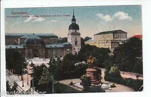 Darmstadt-AK-1924-Paradeplatz-Denkmal-Museum-Theater-Hessen-1601261