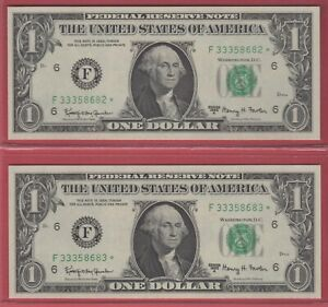 2013 $5 Federal Reserve Consecutive Star Note Richmond FRN Rare Issue FR 1996-E*