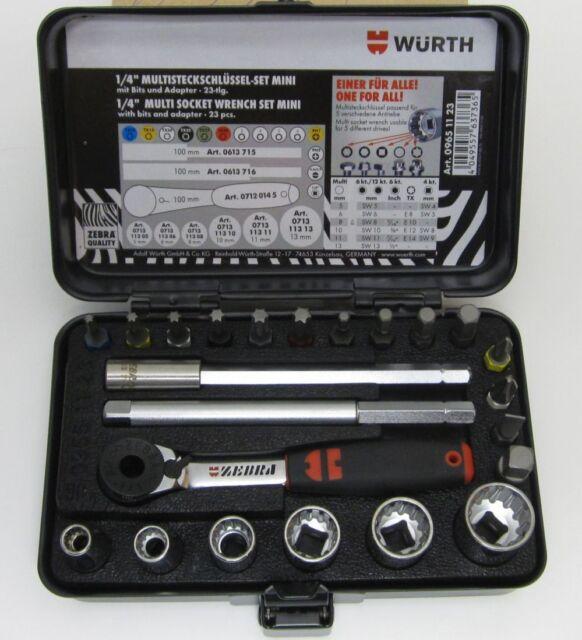 Schwarz W/ürth 096511 23 Steckschl/üssel 1//4 Zoll Multi Sortiment Mini