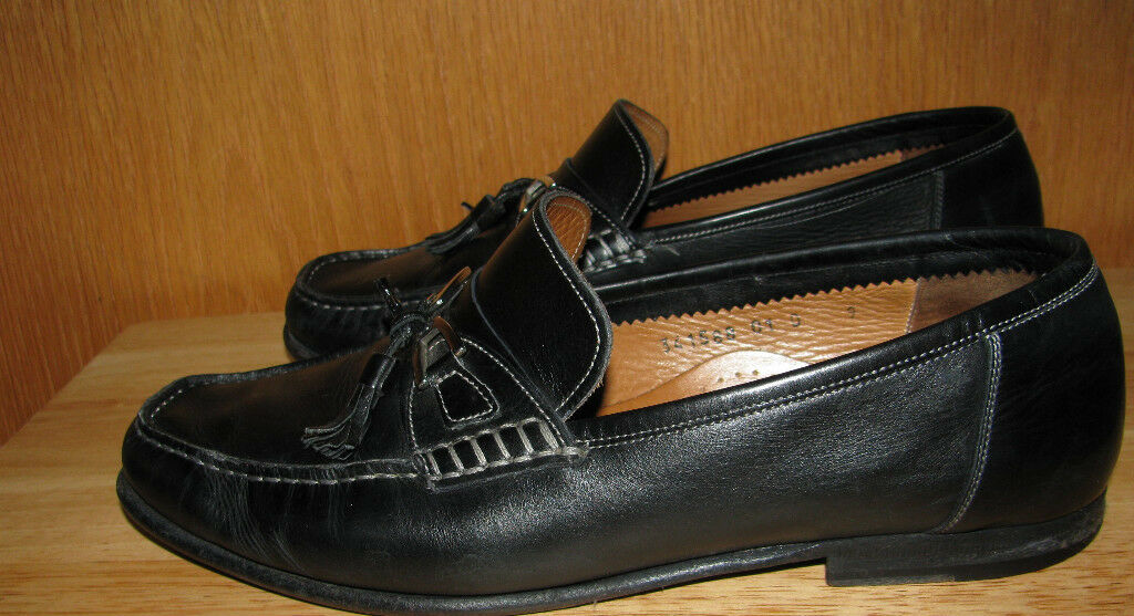SANTONI  Herren LEATHER LOAFERS LOAFERS LEATHER TASSEL Schuhe SZ 9D 938e82