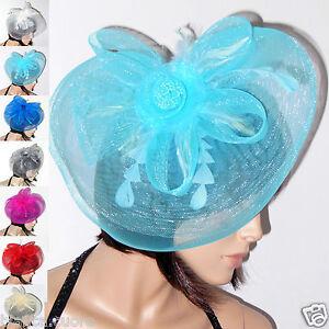 Caricamento dell immagine in corso Cappello-cerimonia-Donna-piume-azzurro- FASCINATOR-turchese-art- 89924f651bd0