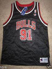 Dennis Rodman #91 Chicago Bulls Champion NBA Black Jersey Youth XL 18-20 NWT