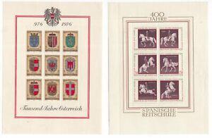 Austria-2-x-circa-1970-miniature-sheets-mint
