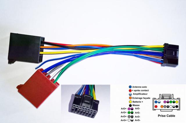 Cable ISO for head unit ALPINE CDE-126BT CDE-131R CDE-133BT CDE-134BT CDE-135BT
