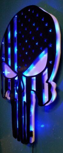 Punisher LED sign Punisher Flag Personalized Punisher man cave light up sign