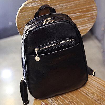 Vintage Women PU Leather Backpack Shoulder Bag Schoolbag Travel Satchel Rucksack